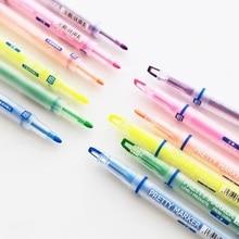 36 pçs/lote cor bonita highlighter caneta fluorescente marcador de tinta líquida para livro papel fax papelaria escritório material escolar a6857