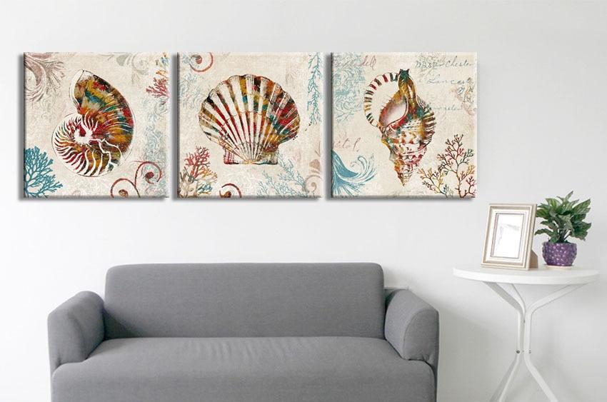 3 buah colorful Nautilus keong shell rumah antik dekoratif kanvas - Dekorasi rumah - Foto 2