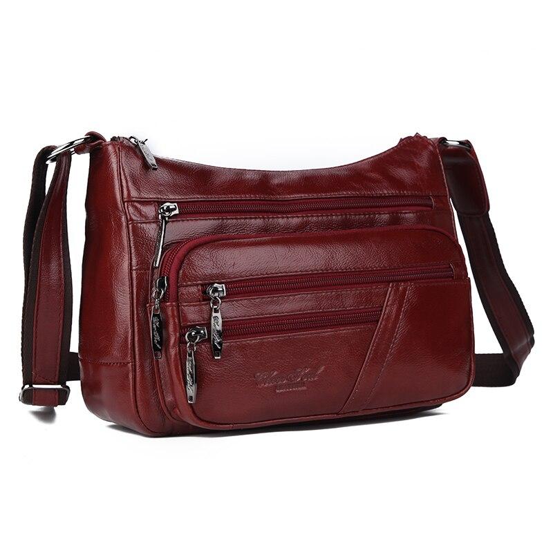 Vrouwen Sling Cross Body Bags Dames Hobo Natuurlijke Huid Hoge Kwaliteit Nieuwe Mode Vrouwelijke Lederen Messenger Schoudertas-in Schoudertassen van Bagage & Tassen op  Groep 1