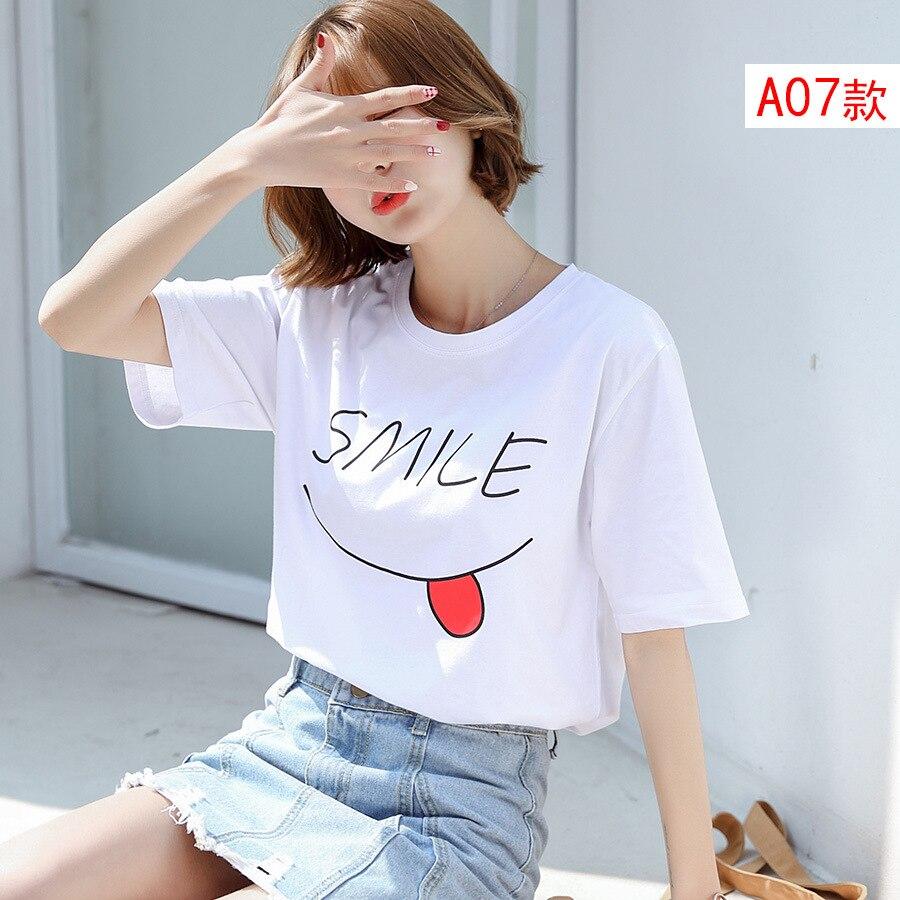 Nouvelles femmes de mode t shirt coton nouveau style L15