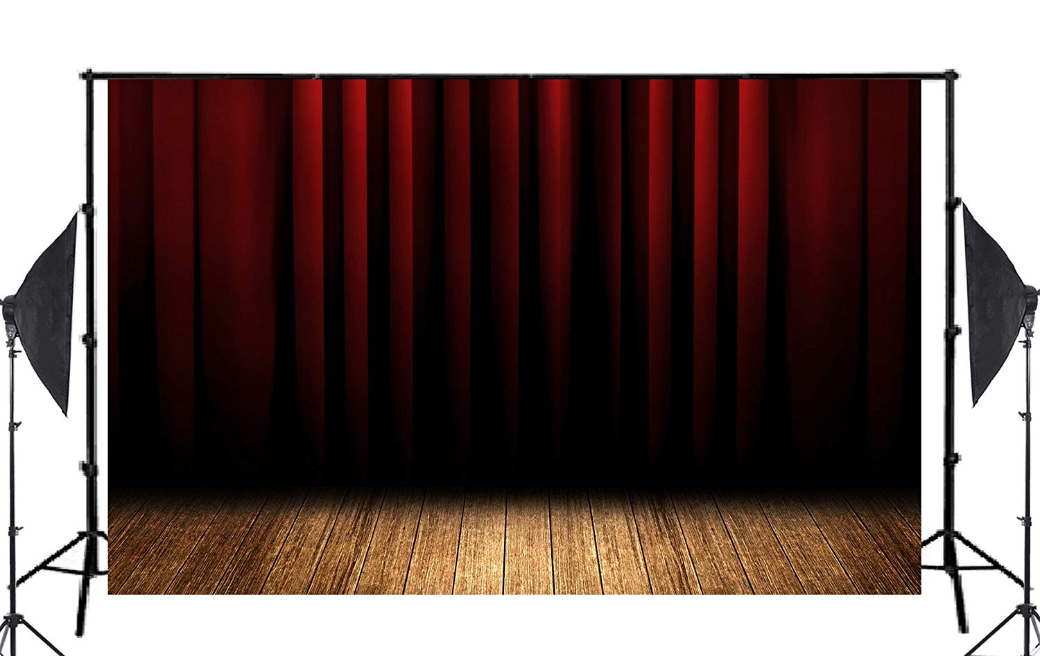 Image 2 - Stratified Black Red Stage Curtain Backdrop Photo Studio Backgrounds 5x7ft Booth Shoot Props-in Photo Studio Accessories from Consumer Electronics