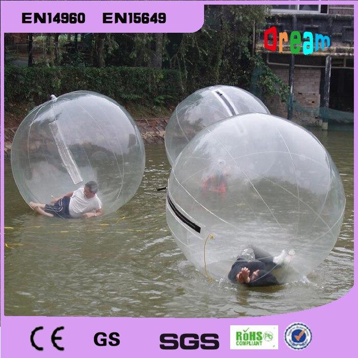 Frete grátis 2m bola de bolha de água inflável água andando bola balões de água bolas gigante inflável anti stress bola - 5