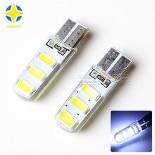 10pcs 12V W5W T10 5W LED COB High Power W16W T10 COB 6Led car light source stop turn signal brake Parking Reverse Bulb Lamp