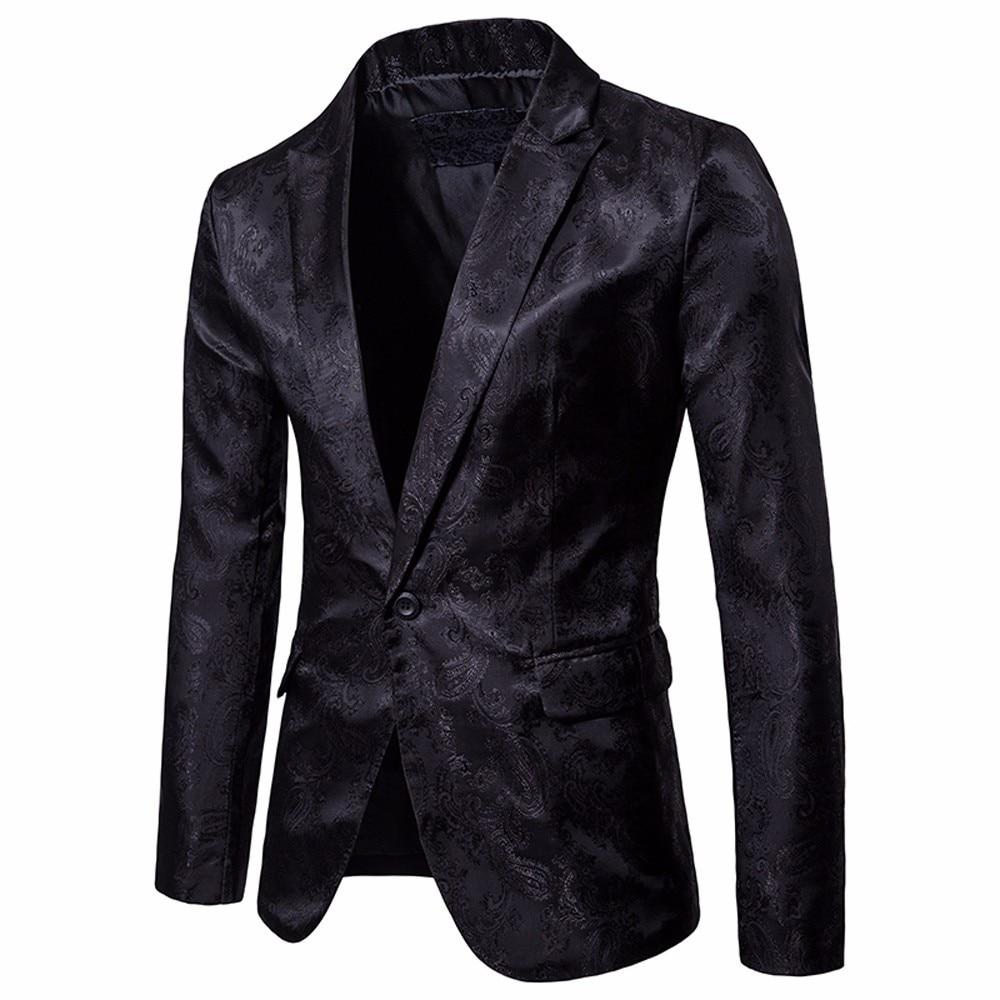 New Mens Fashion Brand Blazer 2019 Plus Size Casual Slim Fit Suit Jacket Male Blazers Men Coat Terno Masculino 3xl W/90 Blazers