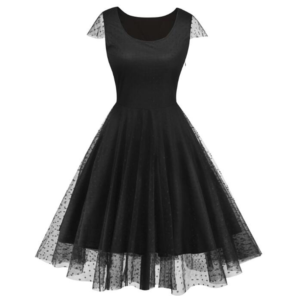 bf83a1339d6 Plus Size Vintage Dresses Women Floral Print Retro Swing Rockabilly Pinup  Boho Summer Dress Tie Up Blue Party Dress VestidosUSD 21.28 piece