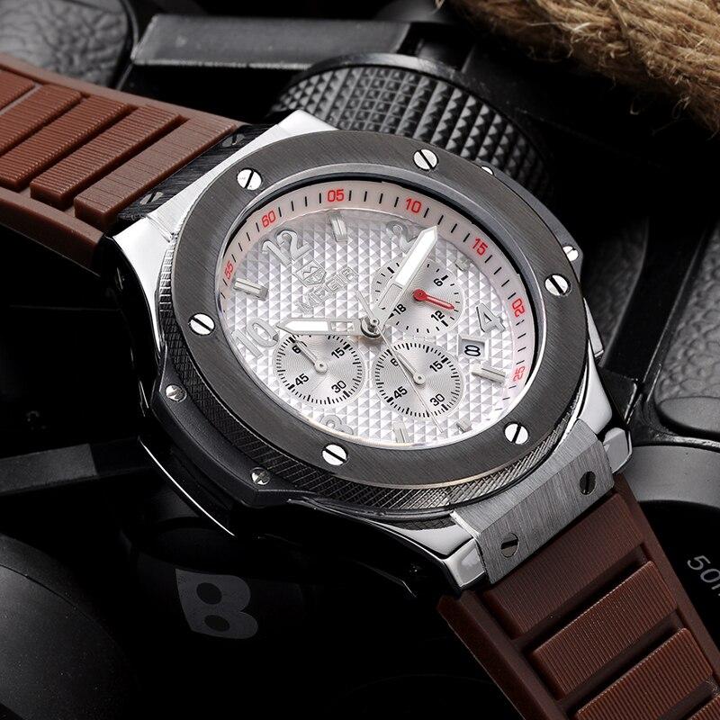MEGIR Mode Hommes Quartz Montres De Luxe Top Marque Militaire Bracelet En Silicone Sport Montres Étanche Horloge Relogio Masculino