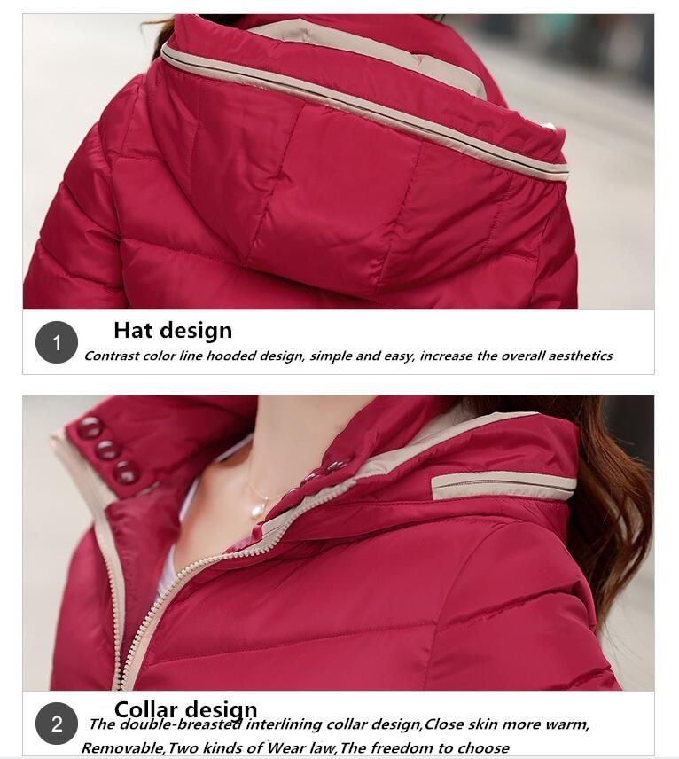 2017 зимние для женщин куртка новая мода с caption теплая дутая куртка короткие подпушка хлопковое пальто прошел тонкий большой ярдов одежда на хлопчатобумажной poke sj1174