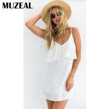 Здесь можно купить  MUZEAL Deep V Neck V Back Small Dots Slip Dress Cute Sexy Girls Night Club Party Street Fashion Peplum Mini Spaghetti Dress 116
