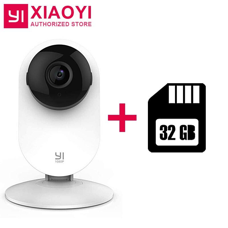 bilder für Original Xiaoyi YI 1080 P Hause Kamera + 32G Karte Nacht Vision Bewegung/Baby Weinen Erkennung 111 Grad Eingebautem MIKROFON 2 Möglichkeiten Audio