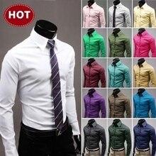 2019 Mens Shirts Stylish Long Sleeve Chemise Homme Masculina 17colors Size: M-XX