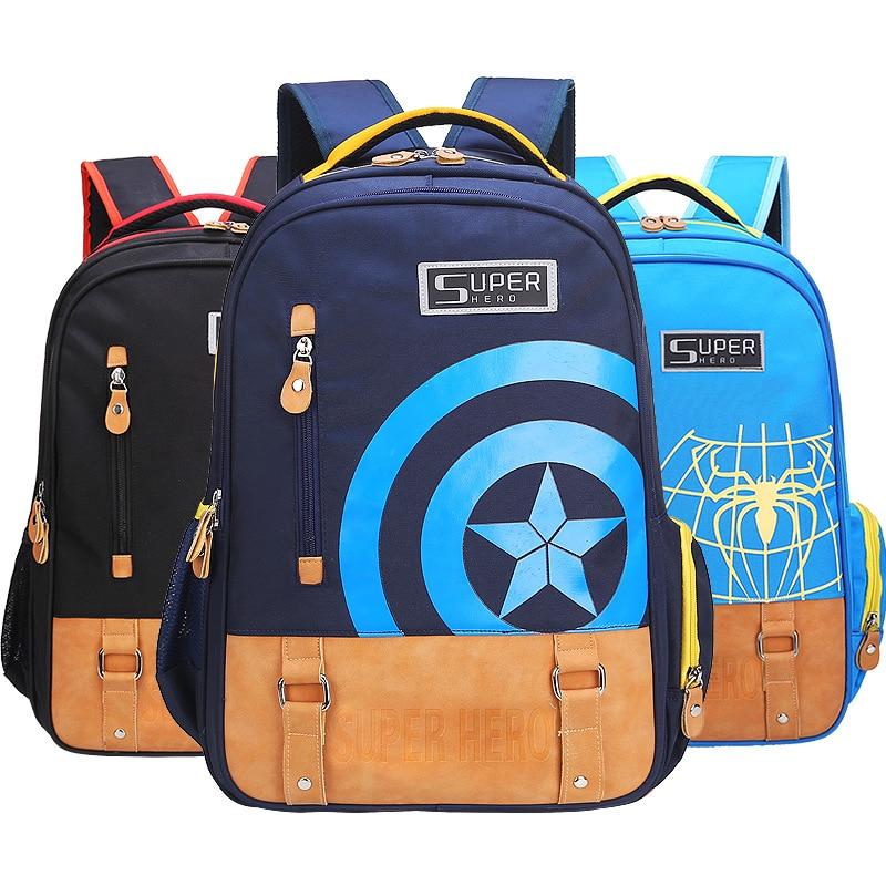Супергерой мультфильм печати детей школьного рюкзака для мальчиков и девочек 2 размеров школы сумки, подходящие для 1-6 классов Mochila infan ...