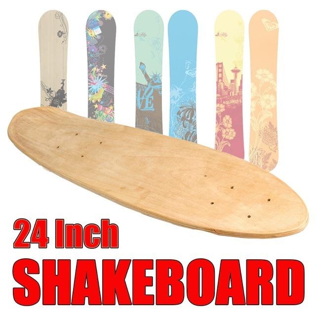 24 Inch Fish Skateboard Natural Single Foot Wooden Maple Blank Deck Board Parts Happy Baby DIY Skateboard Accessories