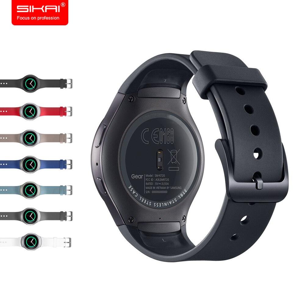 SIKAI D'origine En Caoutchouc Bracelet En Silicone Pour Samsung Vitesse S2 Sport bracelet Gel Dragonne Pour Samsung Vitesse S2 Montre R720 R730
