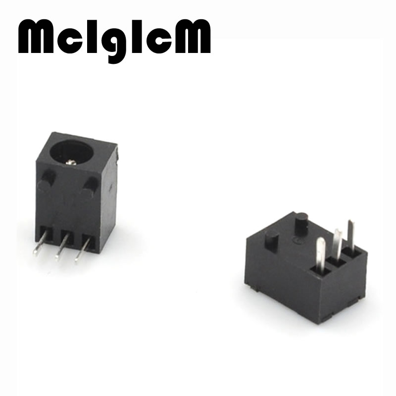 5*7.5*<font><b>6.3mm</b></font> 3 PIN Rectangle DC Power <font><b>Jack</b></font> Socket Adapter Connector image