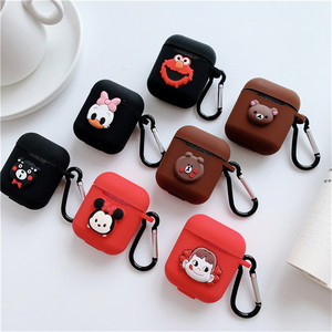 Image 2 - Cartoon animal Mickey Hello Kitty For apple airpods case Wireless Bluetooth Headset For airpods 1/2 Charging Silicone Soft Case