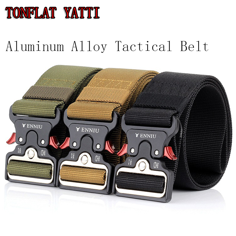 New 2018 Military Combat Tactical Quick Zinc alloy Buckle Belt Nylon Multi-purpose wear Versatile Belt 5 CM 3 colors 10a 5 in 1 multi purpose flashlight fire starter compass lanyard buckle
