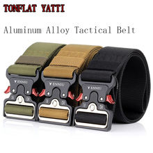 New 2019 Military Combat Tactical Quick Zinc alloy Buckle Belt Nylon Multi-purpose wear Versatile 5 CM 3 colors
