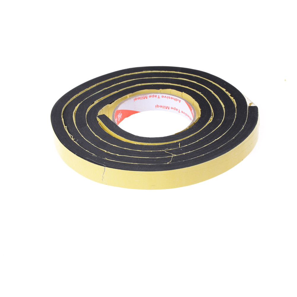 Window Door Foam Self Adhesive Draught Excluder Strip Sealing Tape Adhesive Tape Rubber Weather Strip 10mm Thickness 2 Meter ободная лента continental easy tape rim strip до 116 psi 20мм 584 2 штуки черная 195038