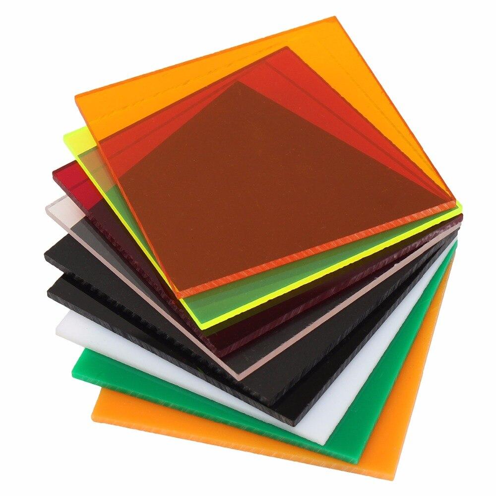 Прозрачные Акриловые (PMMA) листы из плексигласа, Затемненные листы, пластина из плексигласа, акриловая пластина черного/белого/Красного/зеленого/оранжевого цвета, 100x100x2,8 мм Принадлежности для рукоделия      АлиЭкспресс
