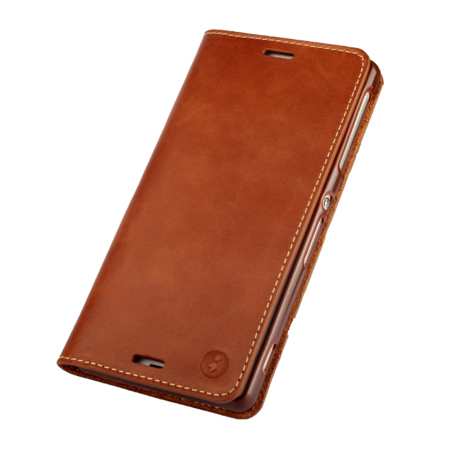 For Sony Z3 Classic Real Genuine Leather Wallet Flip Case for Sony Xperia Z3 Card Holder