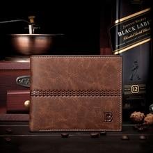 Luxury Mens Leather Bifold ID Card Holder Billfold Purse Wallet Handbag Clutch Brown 12*8*1.5cm