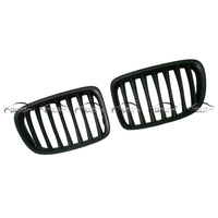 for BMW E84 X1 E81 X1 Matt Black Front Grills Kidney Racing Grille
