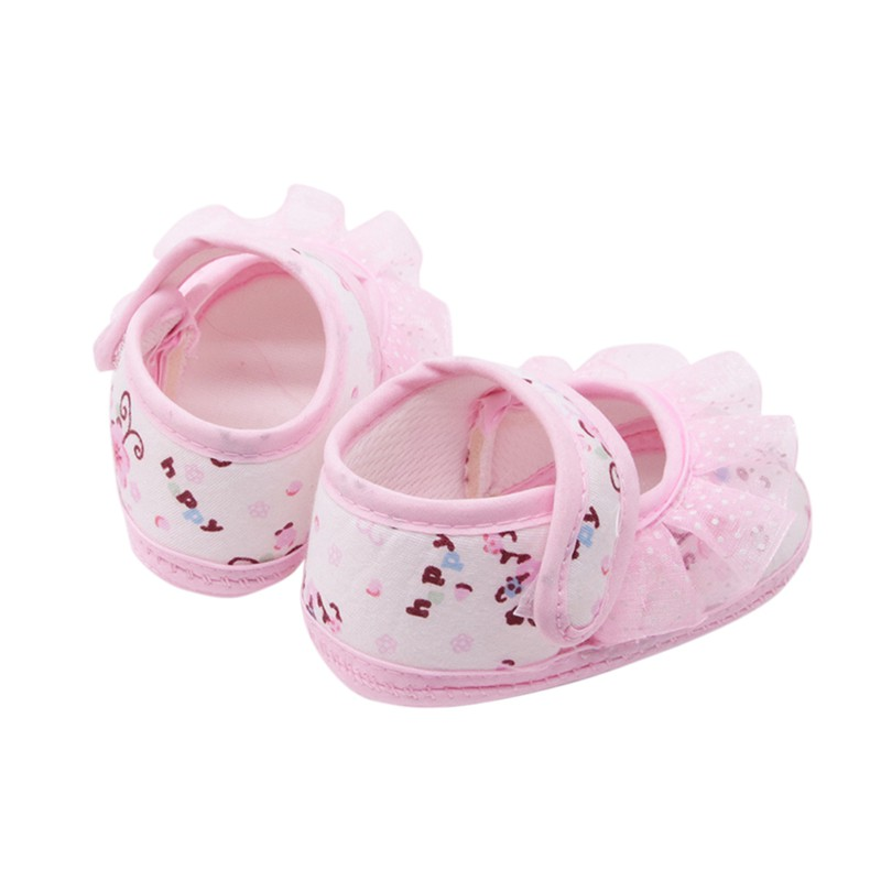 Toddler Shoes Baby-Girls Casual Lace Small Print Cotton