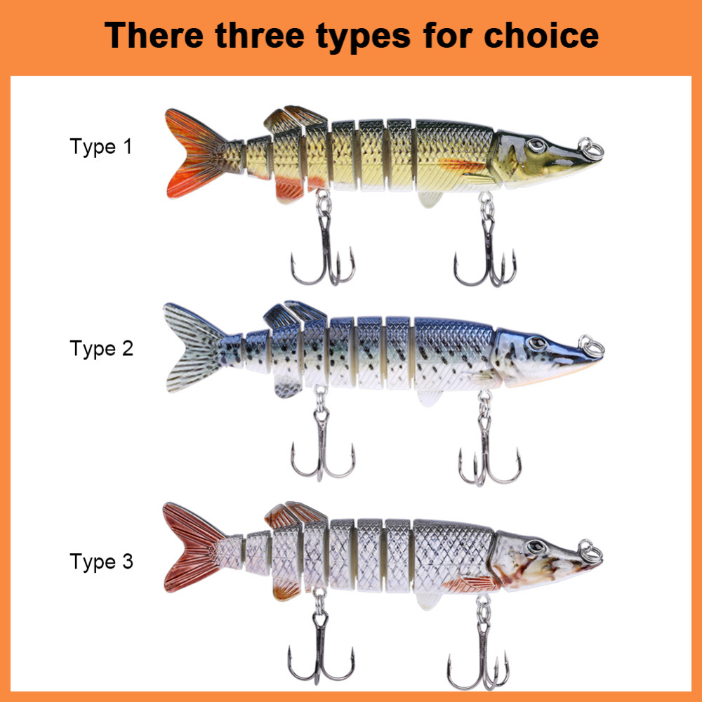 Buy 1pcs multi jointed trout fishing lure for Types of fish bait