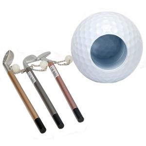 Image 4 - 실용 미니 슈페리어 골프 클럽 모델 볼펜 + 골프 공 홀더 세트 골프 액세서리 무료 배송
