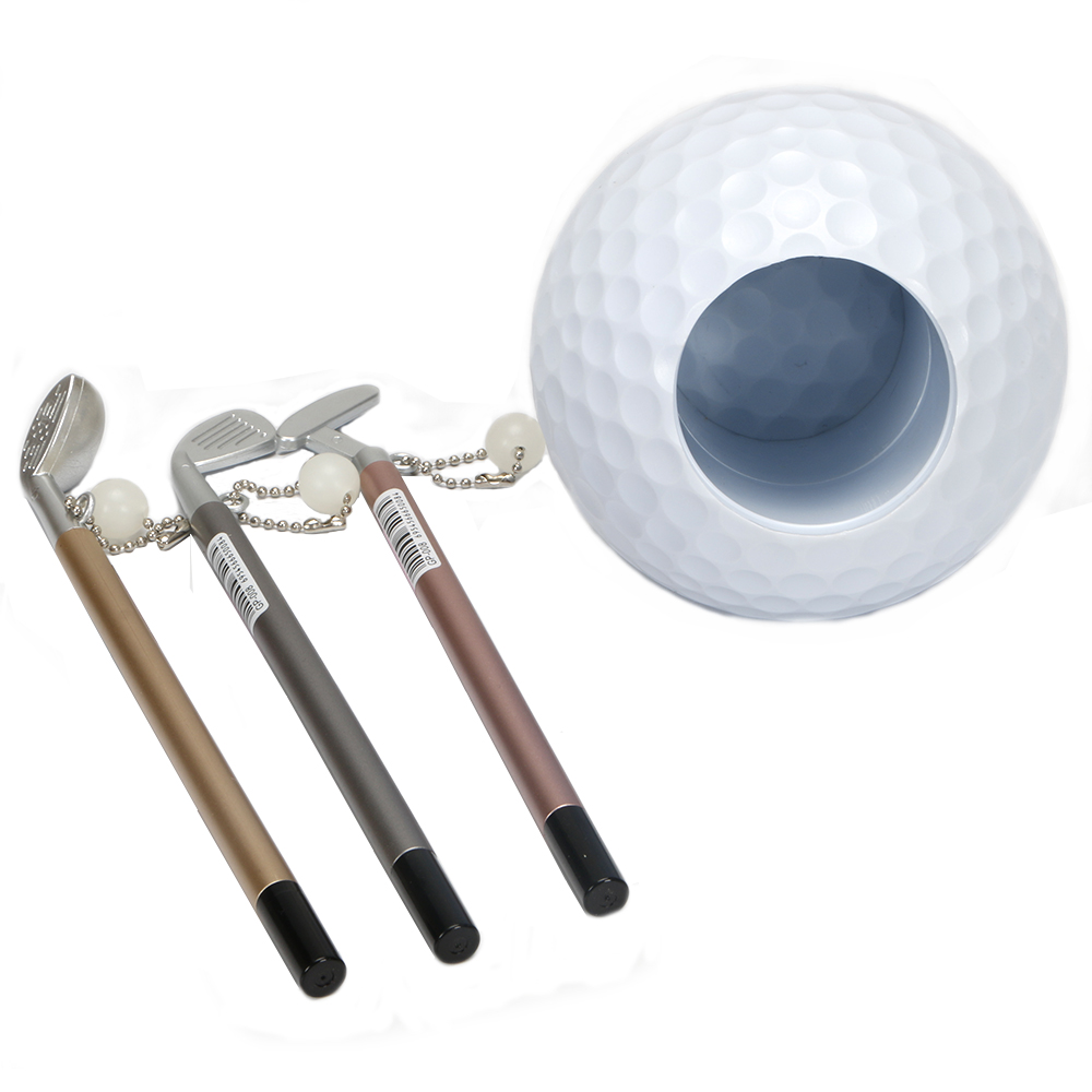 Image 4 - Practical Mini Superior Golf Club Models Ball Pen + Golf Ball holder Set Golf Accessories free shipping-in Golf Training Aids from Sports & Entertainment