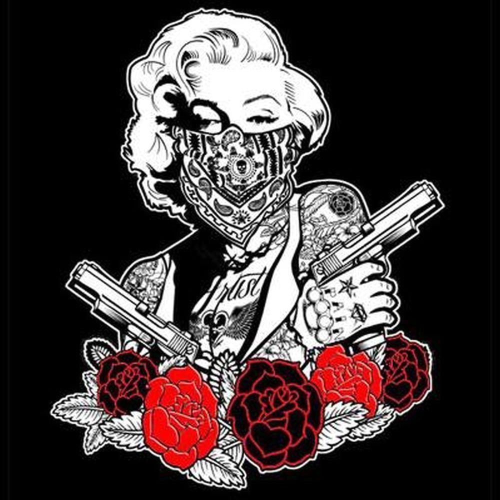 2019 Newest Fashion  Mens Marilyn Monroe Artist T Shirt Pop Art Gangster   T Shirt