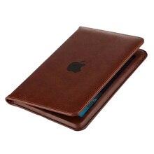"""Nueva Delgado para el ipad de Apple de Aire 1 Aire 2 Caso Del Soporte Del Soporte Del Tirón patente de LA PU de Coque Cubierta Para iPad 2/3/4 Aire 1 2 9.7 """"Caja de la Tableta"""