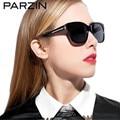 Mulheres Parzin Óculos Polarizados Artesanal Moda Feminina Retro Shades Óculos de Sol Com Caixa Preta 9601