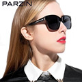 Parzin Women Polarized  Sunglasses Handmade Female Fashion Retro Sun Glasses  Shades With Box Black 9601