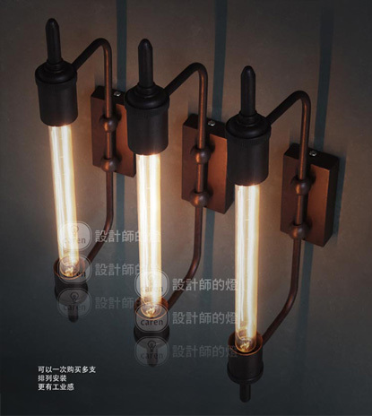 industrial style Steam pipe wall lamp vintage wall light Edison wall lamp contains bulbs free shipping rural style wall lamp vintage wall lamp edison wall light contains edison bulbs free shipping