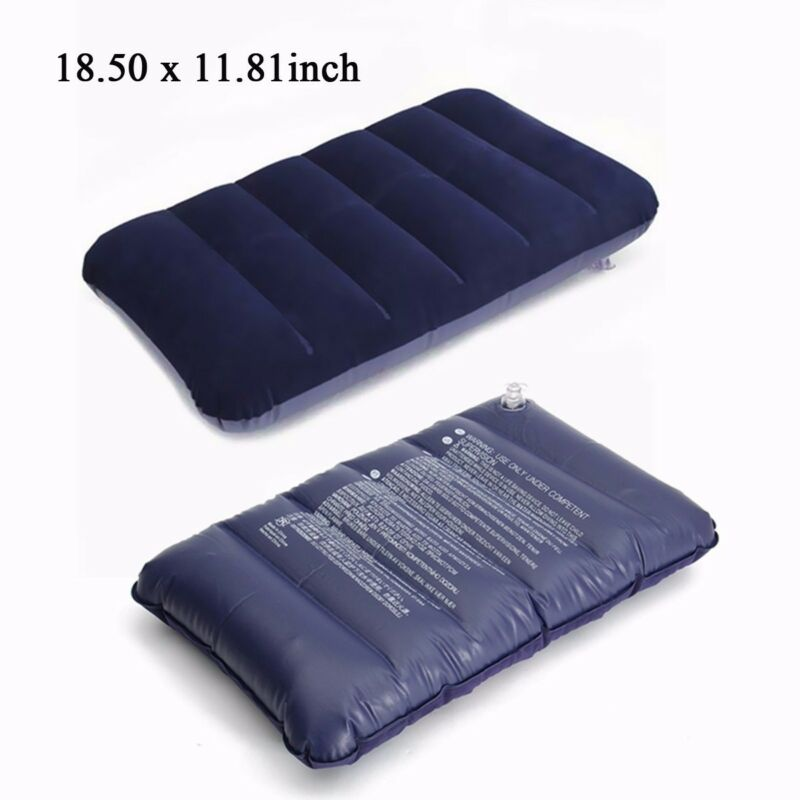 Foldable Pillow Outdoor Travel Sleep Pillow Air Inflatable Cushion Fr Break Rest Inflatable Portable Break Rest Pillow Blue