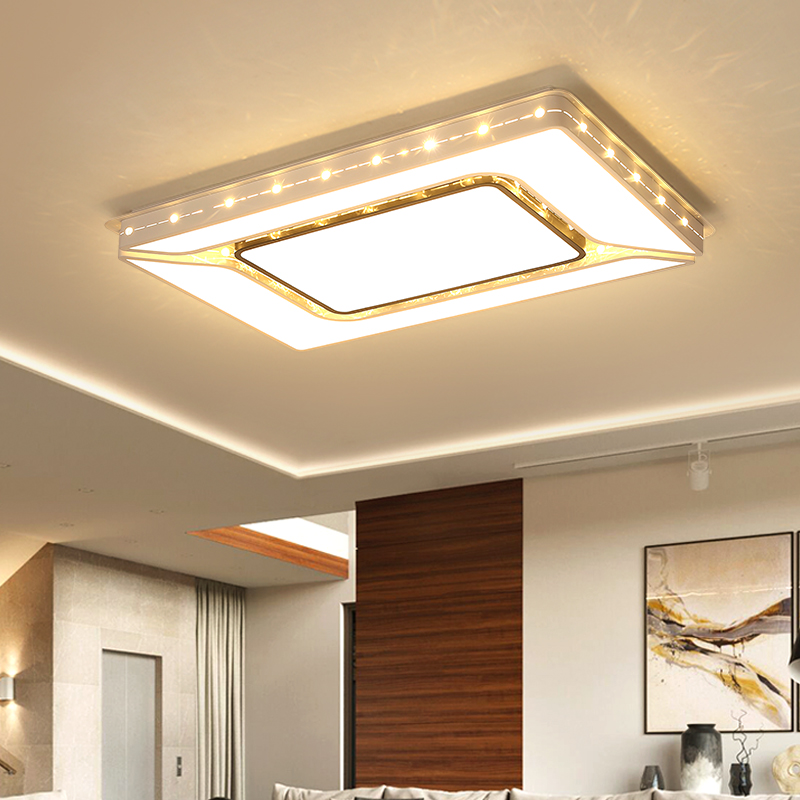 Luminaire plafonnier Modern LED Ceiling Lights Bedroom Office Living room Light surface mounted Rectangle Ceiling Lamp 110V 220V аддиктаболл шар лабиринт малый