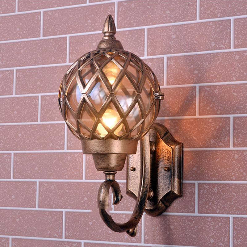 WOERFU Retro Outdoor Wall lamp Waterproof Outdoor Lighting Creative Garden Lamp European Wall Lamps