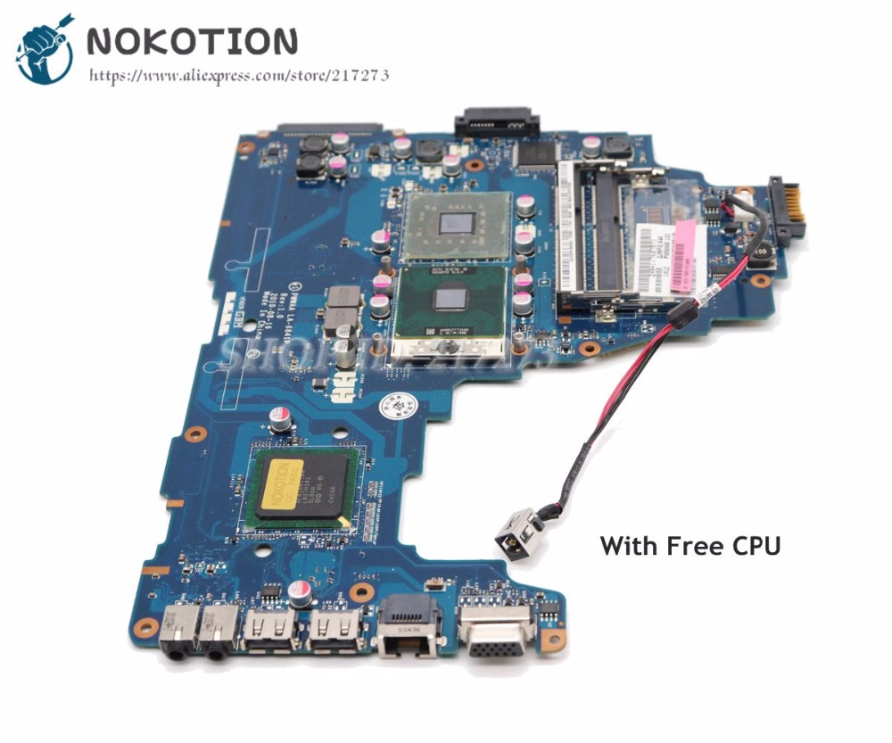 NOKOTION For Toshiba Satellite C660 Laptop Motherboard K000111590 PWWAA LA-6841P GL40 DDR3 Free CPUNOKOTION For Toshiba Satellite C660 Laptop Motherboard K000111590 PWWAA LA-6841P GL40 DDR3 Free CPU