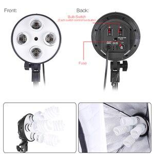 Image 2 - Набор для студийной фотосъемки Andoer с 2 софтбоксами, 2 лампами 4 в 1, 8 лампами 45 Вт, 2 стойками светильник, 1 сумкой для переноски
