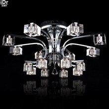 Новый из светодиодов огни спальня зал кристалл лампы из светодиодов современные фары минималистский гостиная прозрачный огни wwy-0202