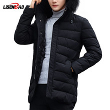 LiSENBAO Winter Men Jacket 2019 Brand Casual quality fashion Mens Jackets And Coats Thick Outwear 3XL Male Clothing 1822