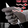 Nmsafety entrega de vidrio resistente al corte guantes de trabajo de carnicero guante hppe anti trabajo cut guante de seguridad