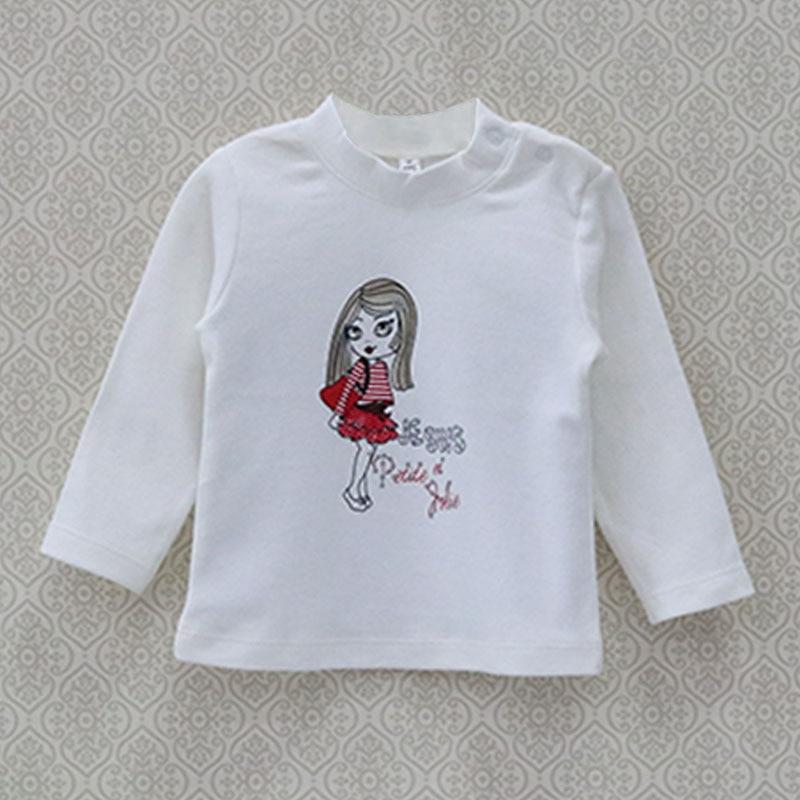 Großhandel Baby Reine Baumwolle Langarm Shirts Mädchen 6 M Bis 18 M Bluse Neugeborene Kleidung 140 Teile/los Kleidung