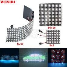 WESIRI 8x8 16x16 8x32 SK6812 WS2812B Individually Addressable Digital Flexible LED Panel Pixels Screen GyverLamp SP107E LC1000A