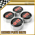 Car-styling Chrome Round Number License Plate Bolt Bolts Universal Fitment For Volkswagen GTI