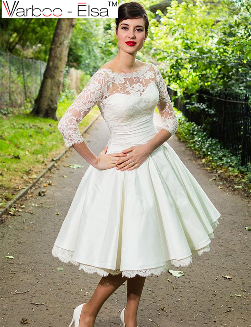 Online get cheap taffeta wedding gowns for 3 4 sleeve ball gown wedding dress
