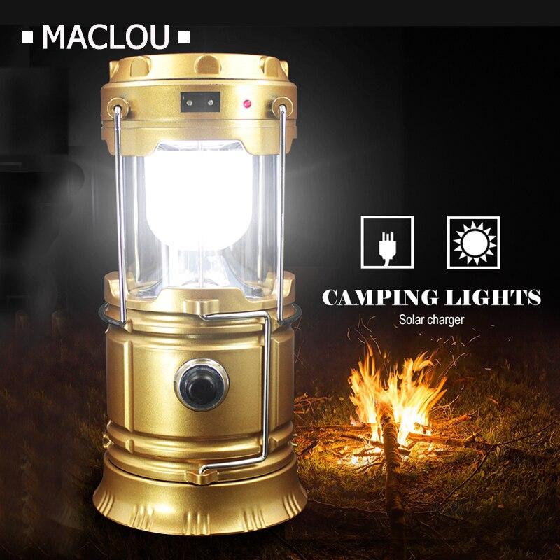 Armatür Exterieur Led 6 LEDs Güneş Led Katlanabilir recargable Fenerleri Taşınabilir Solar Lamba Fener Asılı Lamba kamp açtı