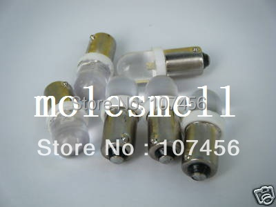 Free Shipping 10pcs T10 T11 BA9S T4W 1895 24V Warm White Led Bulb Light For Lionel Flyer Marx