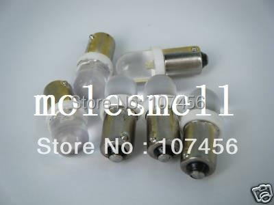 Free shipping 10pcs T10 T11 BA9S T4W 1895 24V warm white Led Bulb Light for Lionel flyer Marx